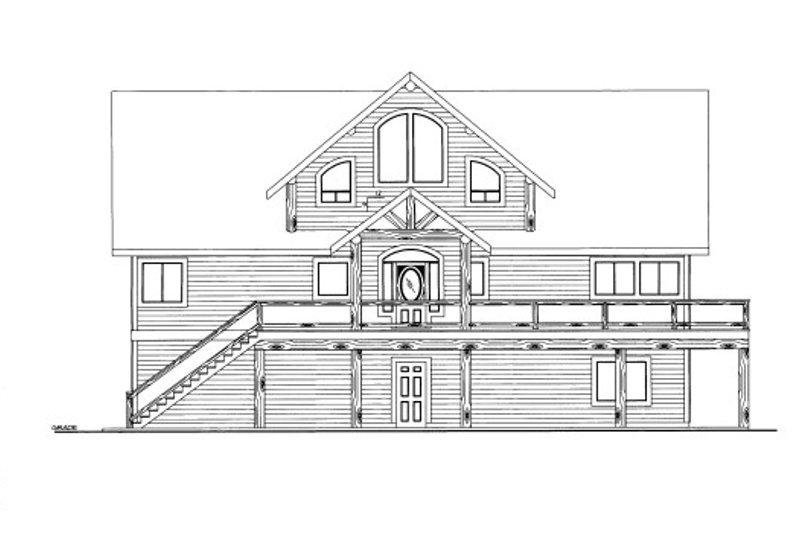 Cabin Style House Plan - 4 Beds 3 Baths 3806 Sq/Ft Plan #117-781