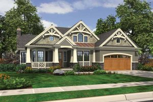 Architectural House Design - Traditional Exterior - Front Elevation Plan #132-542
