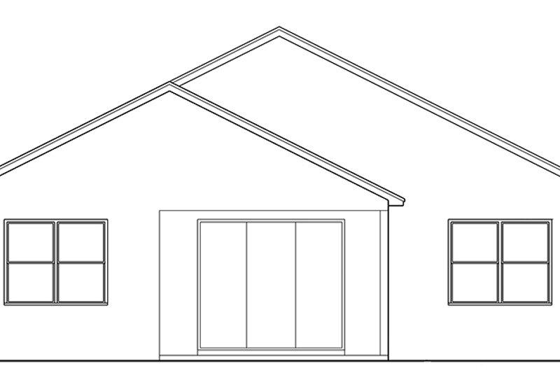 Ranch Exterior - Rear Elevation Plan #1058-104 - Houseplans.com