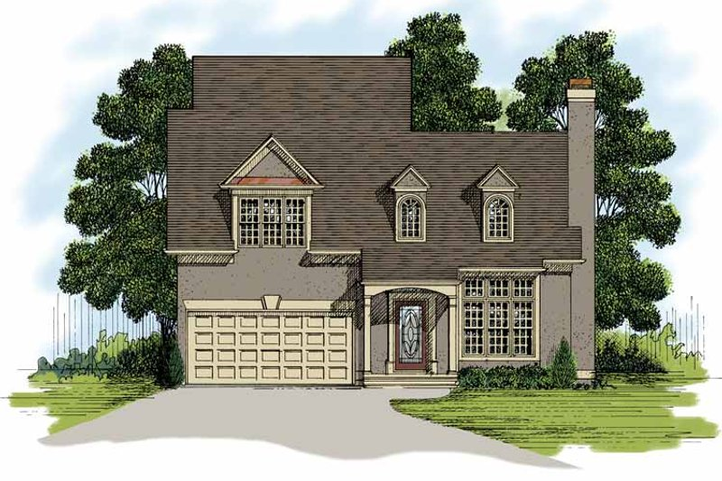 Traditional Exterior - Front Elevation Plan #56-661 - Houseplans.com