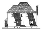 European Style House Plan - 3 Beds 2.5 Baths 2190 Sq/Ft Plan #138-252 Exterior - Rear Elevation