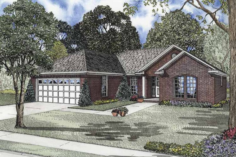 Home Plan - Ranch Exterior - Front Elevation Plan #17-2841
