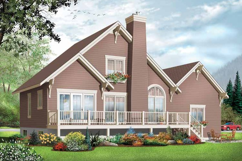 Country Exterior - Front Elevation Plan #23-2409