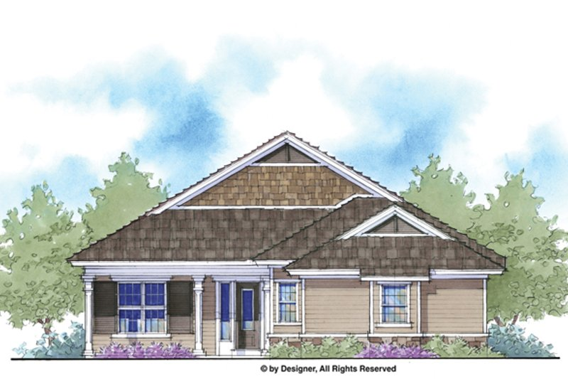 Country Exterior - Front Elevation Plan #938-65