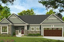 Ranch Exterior - Front Elevation Plan #1010-189