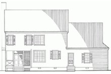 Southern Exterior - Rear Elevation Plan #137-165