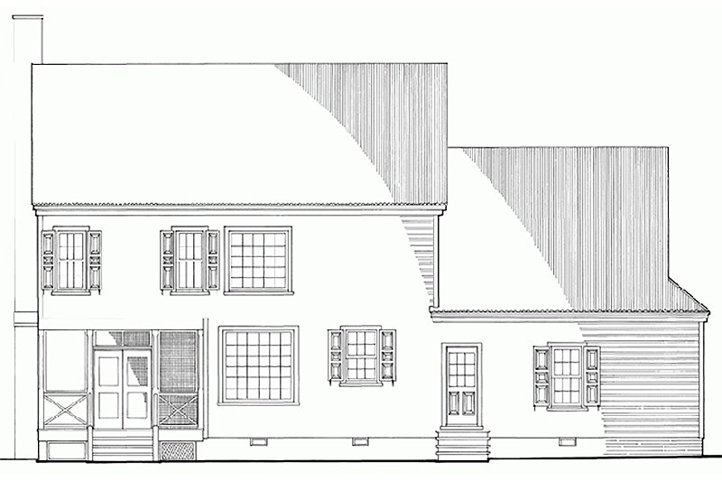 Southern Exterior - Rear Elevation Plan #137-165 - Houseplans.com