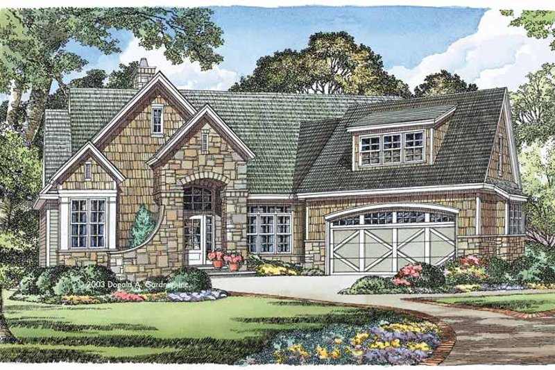 Country Exterior - Front Elevation Plan #929-541