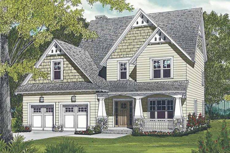 Architectural House Design - Craftsman Exterior - Front Elevation Plan #453-498