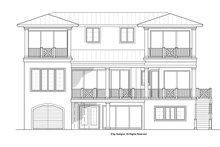 Architectural House Design - Mediterranean Exterior - Rear Elevation Plan #1017-134