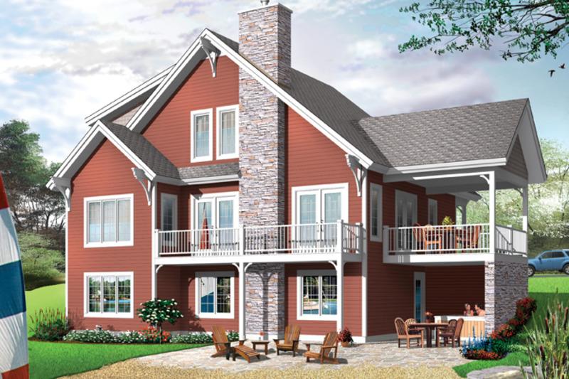 European Exterior - Front Elevation Plan #23-2512 - Houseplans.com