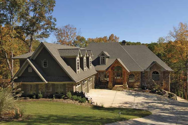 Craftsman Exterior - Front Elevation Plan #54-270 - Houseplans.com
