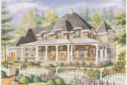 European Style House Plan - 3 Beds 2 Baths 3597 Sq/Ft Plan #25-4793 Exterior - Front Elevation