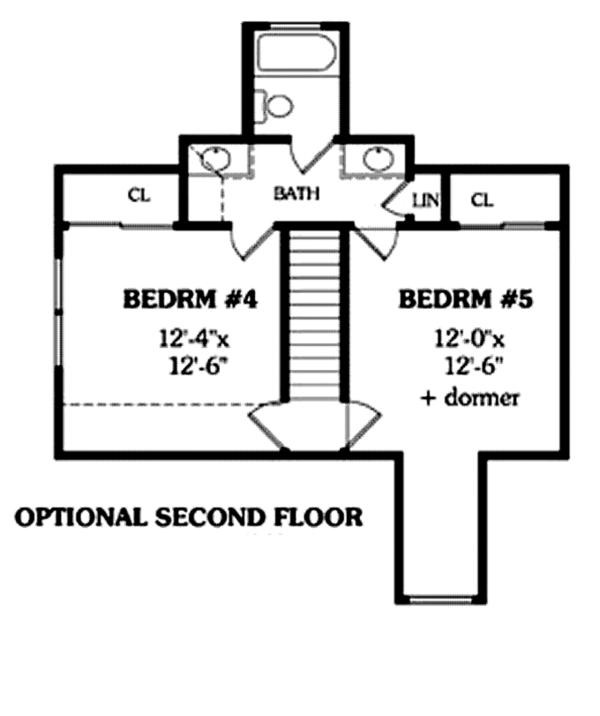 Colonial Floor Plan - Other Floor Plan Plan #314-274