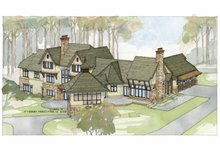 Country Exterior - Rear Elevation Plan #928-24