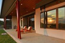 House Design - Contemporary Exterior - Covered Porch Plan #935-18