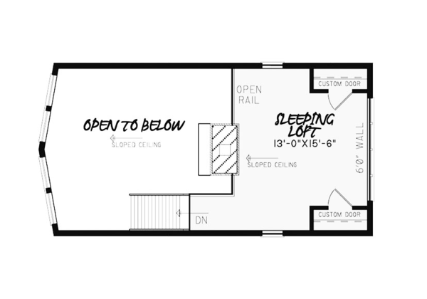 Contemporary Floor Plan - Upper Floor Plan Plan #17-3377