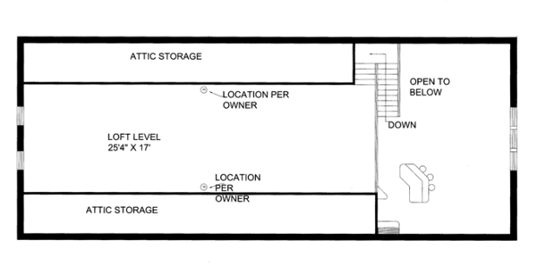 Contemporary Floor Plan - Upper Floor Plan Plan #117-855
