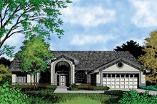 House Plan Design - Mediterranean Exterior - Front Elevation Plan #417-698