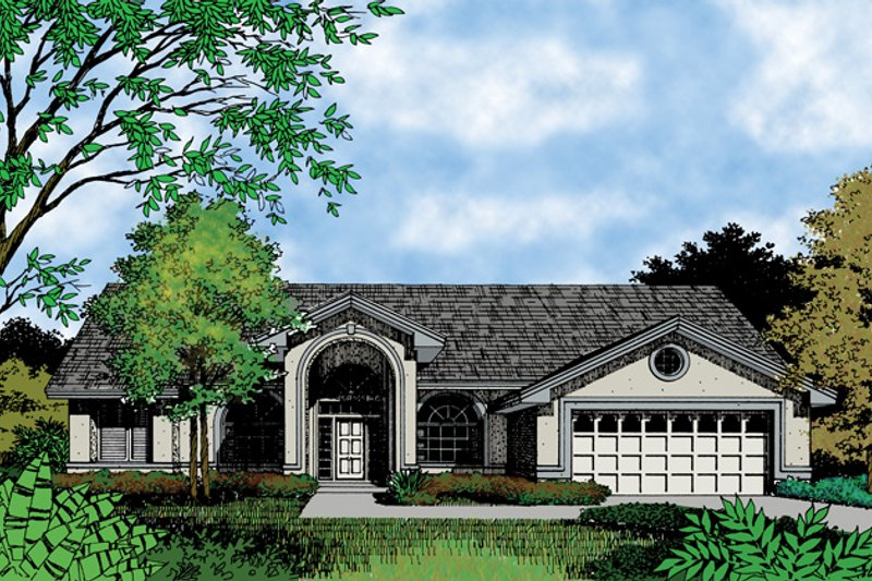Mediterranean Exterior - Front Elevation Plan #417-698