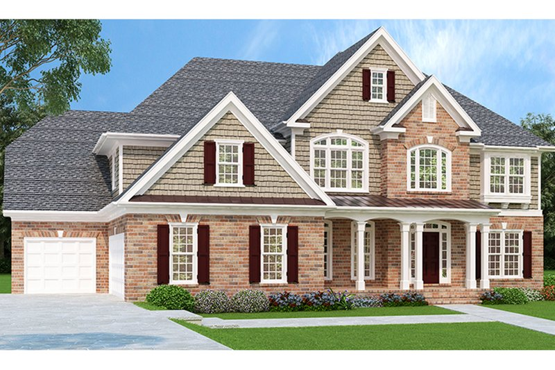 Dream House Plan - Traditional Exterior - Front Elevation Plan #927-756