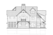 Country Exterior - Rear Elevation Plan #928-214