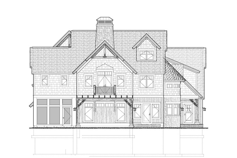 Country Exterior - Rear Elevation Plan #928-214 - Houseplans.com