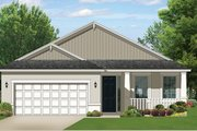 Ranch Style House Plan - 2 Beds 2 Baths 1400 Sq/Ft Plan #1058-103 Exterior - Front Elevation