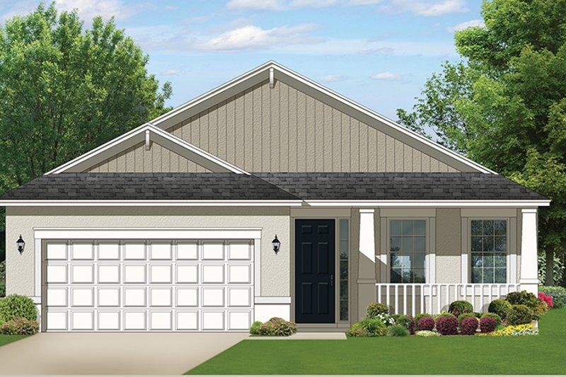 Ranch Exterior - Front Elevation Plan #1058-103 - Houseplans.com