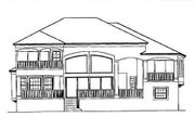 Mediterranean Style House Plan - 4 Beds 4 Baths 3448 Sq/Ft Plan #27-206 Exterior - Rear Elevation