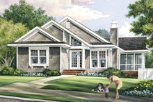 House Plan Design - Bungalow Exterior - Front Elevation Plan #137-360