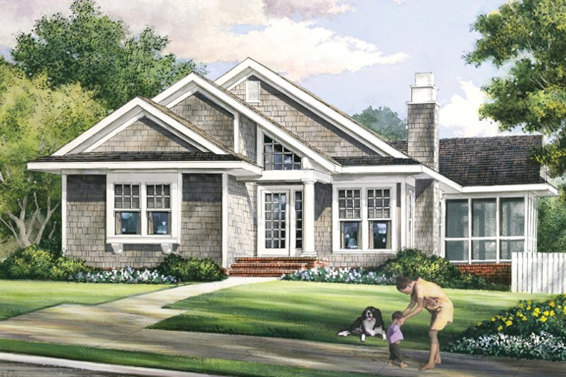 Bungalow Exterior - Front Elevation Plan #137-360 - Houseplans.com