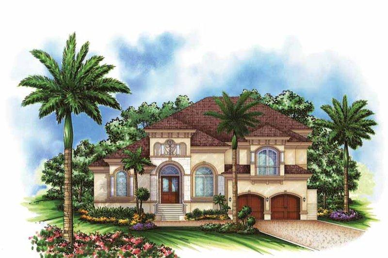 Mediterranean Exterior - Front Elevation Plan #1017-101 - Houseplans.com