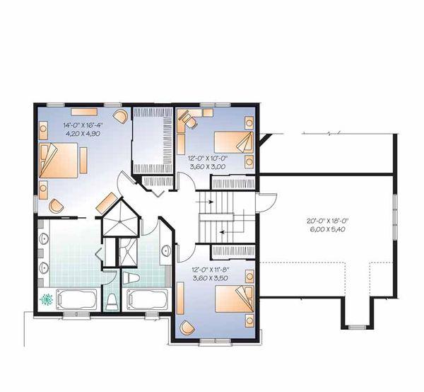Country Floor Plan - Upper Floor Plan Plan #23-2556