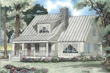 Country Exterior - Front Elevation Plan #17-3089