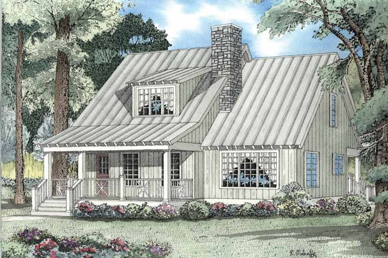 Architectural House Design - Country Exterior - Front Elevation Plan #17-3089