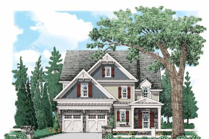 Country Exterior - Front Elevation Plan #927-536 - Houseplans.com