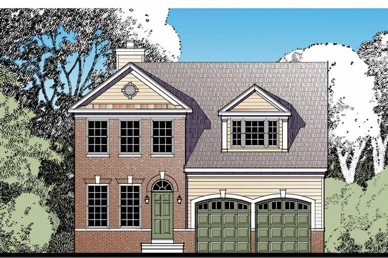 Traditional Exterior - Front Elevation Plan #1029-60 - Houseplans.com