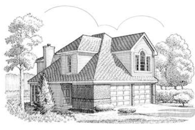 Traditional Exterior - Front Elevation Plan #410-254 - Houseplans.com
