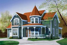 Victorian Exterior - Front Elevation Plan #23-2345