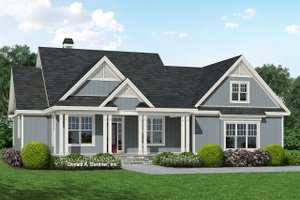 Ranch Exterior - Front Elevation Plan #929-1094