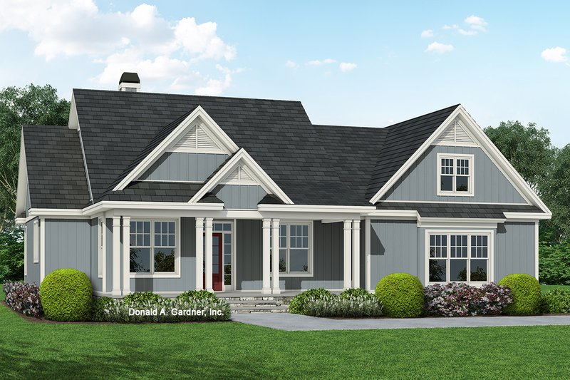 Ranch Style House Plan - 3 Beds 2 Baths 1578 Sq/Ft Plan #929-1094 Exterior - Front Elevation