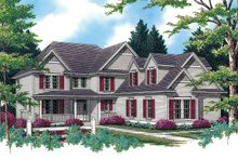 Dream House Plan - Country Exterior - Front Elevation Plan #48-331