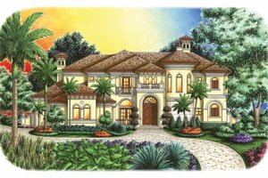 House Design - Mediterranean Exterior - Front Elevation Plan #1017-108