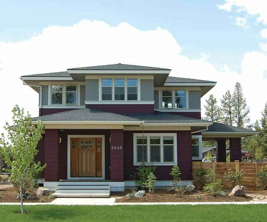 The Sater Design Collection Prairie Style House Plan 4 Beds 2 5 Baths 2439 Sq Ft