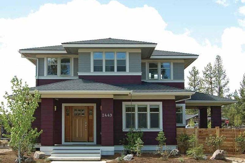 Prairie Exterior - Front Elevation Plan #895-62 - Houseplans.com