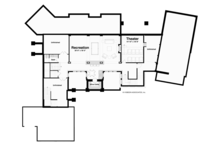 Traditional Floor Plan - Lower Floor Plan Plan #928-247
