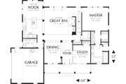Colonial Style House Plan - 4 Beds 2.5 Baths 2561 Sq/Ft Plan #48-106 Floor Plan - Main Floor