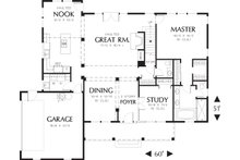 Main level floor plan - 2500 square foot country home