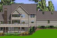 Dream House Plan - Craftsman Exterior - Rear Elevation Plan #48-822